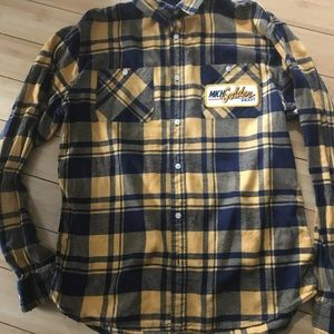 Flannel with beer patch
